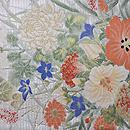 百花繚乱の織 夏の袋帯 前柄