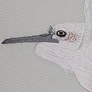 波間に白鷺の刺繍夏名古屋帯 質感・風合