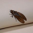 虫の刺繍夏名古屋帯 質感・風合