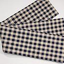 弁慶格子の伊兵衛織半巾帯 帯裏