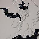 柳にコウモリの刺繍夏名古屋帯 質感・風合