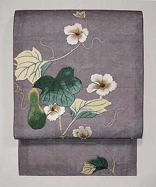 ひょうたんの刺繍名古屋帯