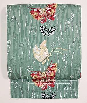 蝶々の織名古屋帯