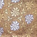 龍村晋製 金銀二重蔓牡丹錦袋帯 前柄