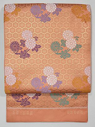 龍村晋製 有職上品菊錦袋帯