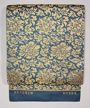 龍村晋製 高台二重蔓金蘭袋帯