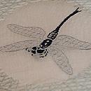 芝に蜻蛉丸文絽名古屋帯 質感・風合