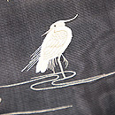柳に白鷺の図絽名古屋帯 質感・風合
