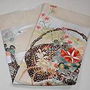 夏の花籠刺繍絽袋帯 帯裏