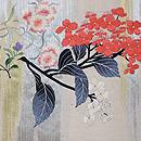 夏の花籠刺繍絽袋帯 前柄