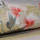 夏の花籠刺繍絽袋帯 質感・風合