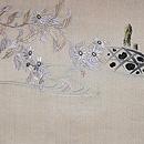 鯉と菊の図刺繍紗名古屋帯 前柄