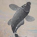 鯉と菊の図刺繍紗名古屋帯 質感・風合