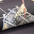 すすきに虫籠の図単衣袋帯 質感・風合