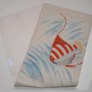 熱帯魚のフランス刺繍夏名古屋帯 帯裏
