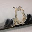 蛙の図絽名古屋帯 質感・風合