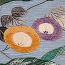 朝顔の刺繍夏名古屋帯 質感・風合
