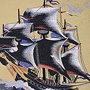 帆船の綴単衣名古屋帯 質感・風合