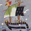 帆船コラージュの名古屋帯 質感・風合