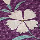 紫地桔梗になでしこ夏帯 質感・風合