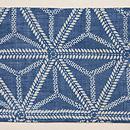 松原与七作 麻の葉模様麻地藍型染 前柄