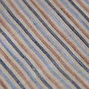 四色縦縞の越後上布名古屋帯 質感・風合
