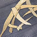 黒地蛇籠の刺繍紗の名古屋帯 質感・風合