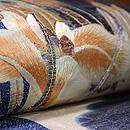 菖蒲の刺繍開き名古屋帯 質感・風合