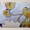 ひまわりの織り絽の名古屋帯 前柄