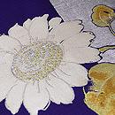 ひまわりの織り絽の名古屋帯 質感・風合