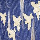 ふくら雀の図単衣帯 前柄