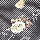黒地貝刺繍絽名古屋帯 質感・風合