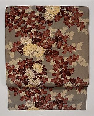 白菊の錦紗地名古屋帯