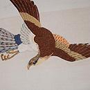 白地鷹の刺繍名古屋帯 質感・風合