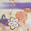 梅に竹の丸文様刺繍名古屋帯 質感・風合
