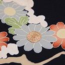雪持ち菊の名古屋帯 質感・風合