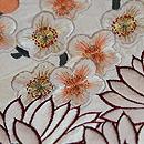 白地菊梅の刺繍名古屋帯 質感・風合