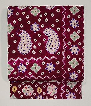 インドネシア絹絞りの名古屋帯