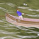 春の川面を漕ぐの図名古屋帯 質感・風合