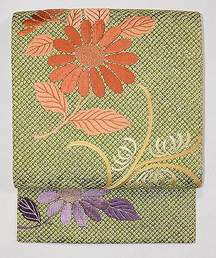 絞りに菊のデコ柄名古屋帯