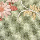 絞りに菊のデコ柄名古屋帯 前柄