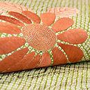 絞りに菊のデコ柄名古屋帯 質感・風合