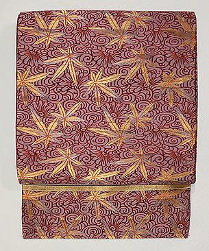 モミジの織り名古屋帯