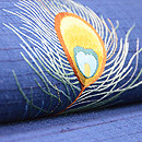 孔雀の羽根の刺繍名古屋帯 質感・風合