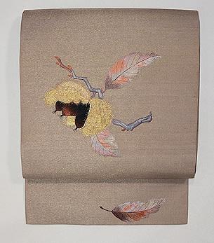 栗の刺繍名古屋帯