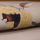 栗の刺繍名古屋帯 質感・風合