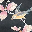ドングリにヒヨドリの刺繍名古屋帯 質感・風合