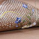 横笛の刺繍名古屋帯 質感・風合