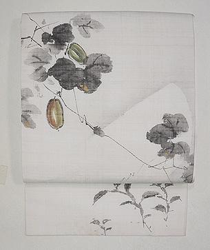 カラスウリの描き名古屋帯