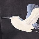 黒鷺の図刺繍帯 質感・風合